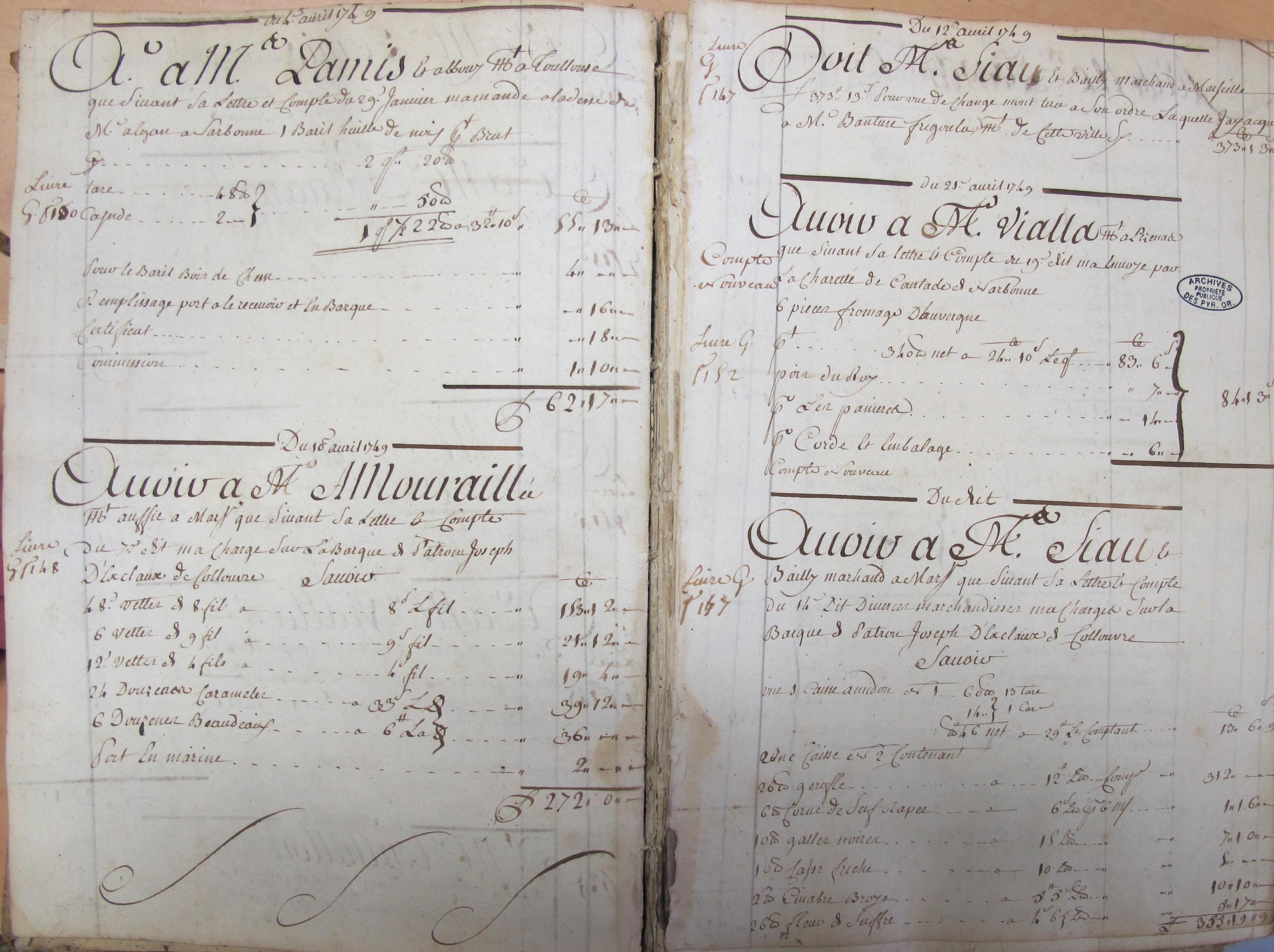 Fonds jeanne-rey-1j426-Folio 8b-9. Archives départementales des Pyrénées-Orientales
